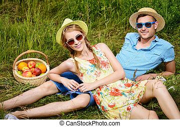 lato, piknik