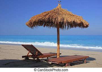 lato, plaża, grecja
