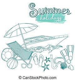 lato, plażowe wakacje