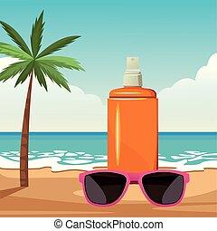lato, plażowe zwolnienie, rysunek