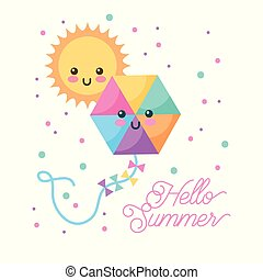 lato, powitanie, rysunek