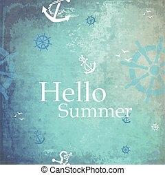 lato, powitanie, tło