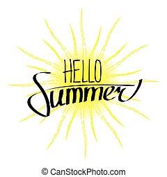 lato, powitanie, tytuł