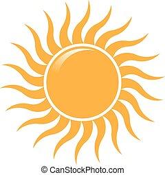 lato, promienie, słońce, machać, wektor, projektować, logo, logo.
