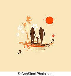 lato, rodzina, święto, szczęśliwy