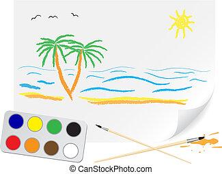 lato, rysunek