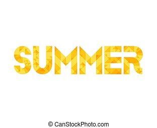 lato, słowo, żółty