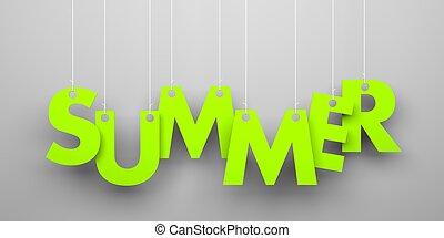 lato, słowo, smyczki, wisząc