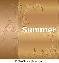 lato, słowo, złoty, ferie, time., tło, luksus