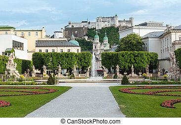 lato, (salzburg, ogród, austria), miasto