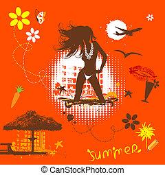 lato, sen, spędza urlop