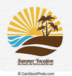 lato, spędza urlop