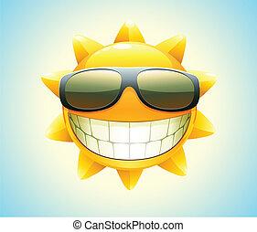 lato, szczęśliwy, słońce