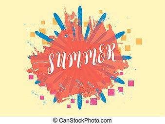 lato, tło, wektor, ilustracja, eps.10