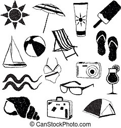 lato, zbiór, doodle