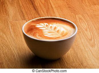latte, bohnenkaffee