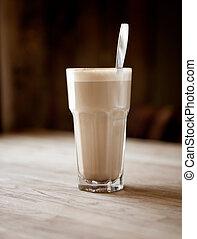 latte, in, koffiehuis