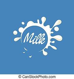latte, logotipo, prodotto