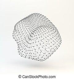 Lattice Geometric Polygonal Element. Connection Structure....