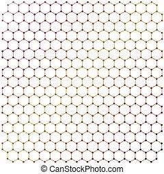 lattice, graphene, fundo, forma