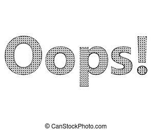 lattice., oops., illustration, maille, -, moléculaire, inscription, structural, polygones, vecteur, arrière-plan., blanc