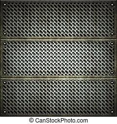 lattice., płyta., metal, struktura