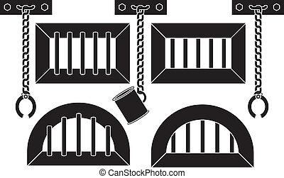 lattices, alças, pegadores