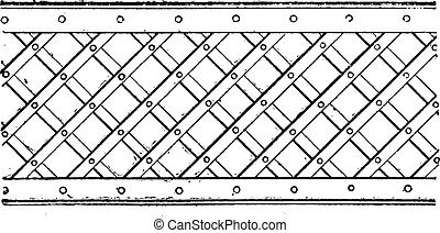 Latticework, vintage engraved illustration. Dictionary of words and things - Larive and Fleury - 1895.