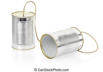 lattina, telefono, bianco