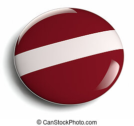 Latvia flag design round badge.