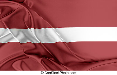 Latvia Flag. Flag with a beautiful glossy silk texture.