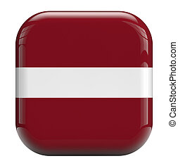 Latvia flag icolate symbol icon.
