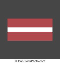 Latvia flag illustration