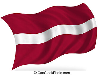 Latvia flag, isolated
