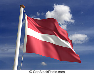 Latvia Flag - Latvia flag (with clipping path)