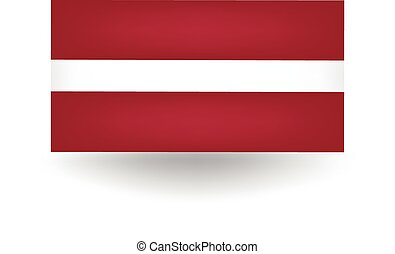 Latvia Flag - Official flag of Latvia.