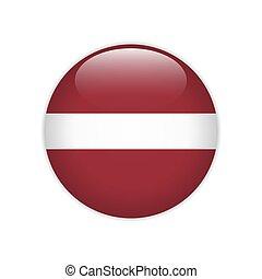 Latvia flag on button