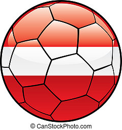 Latvia flag on soccer ball