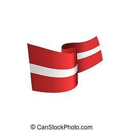 Latvia flag, vector illustration