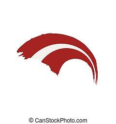 Latvia flag, vector illustration on a white background