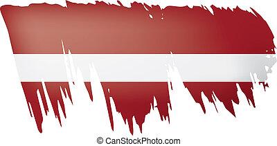 Latvia flag, vector illustration on a white background. -...