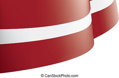 Latvia flag, vector illustration on a white background -...