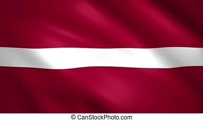 Latvia flag waving in the wind