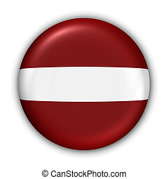 Latvia Flag - World Flag Button Series - Europe - Latvia...