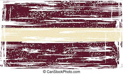 Latvia grunge flag. Vector illustration