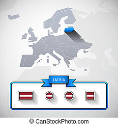 Latvia info card