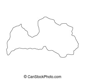 Latvia map Very big size latvia political map illustration drawing