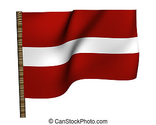 Latvia. National Flag