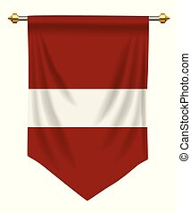 Latvia Pennant - Latvia flag or pennant isolated on white