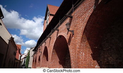 Latvia, Riga the Fortification with Ramer's tower against...